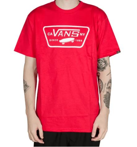 Camiseta Vans Full Patch Vermelha