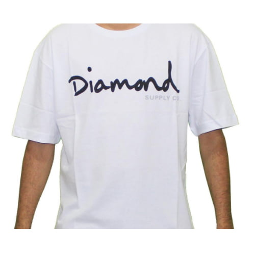 Camiseta Diamond - OG Script Branca