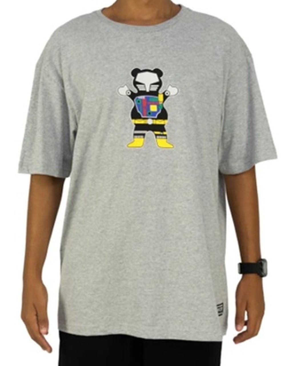 Camiseta Grizzly Chris Cole Robot Tee Heather Grey