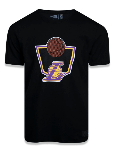 CAMISETA NEW ERA LAKERS PRETO