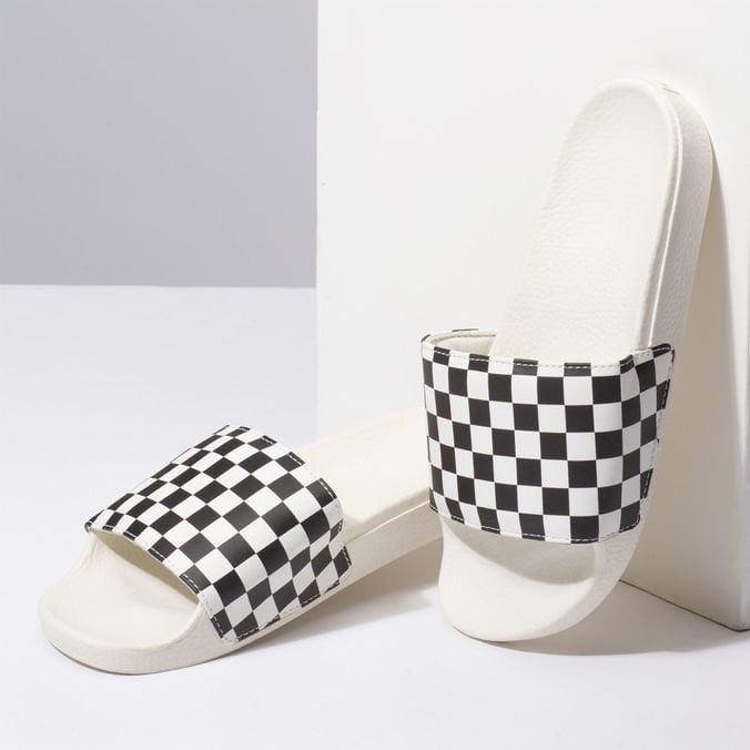 Chinelo Vans Slide On Checkerboard White