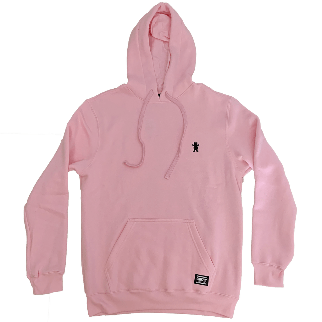 Moletom Grizzly OG Bear Pullover Embroidery Hoodie Rosa