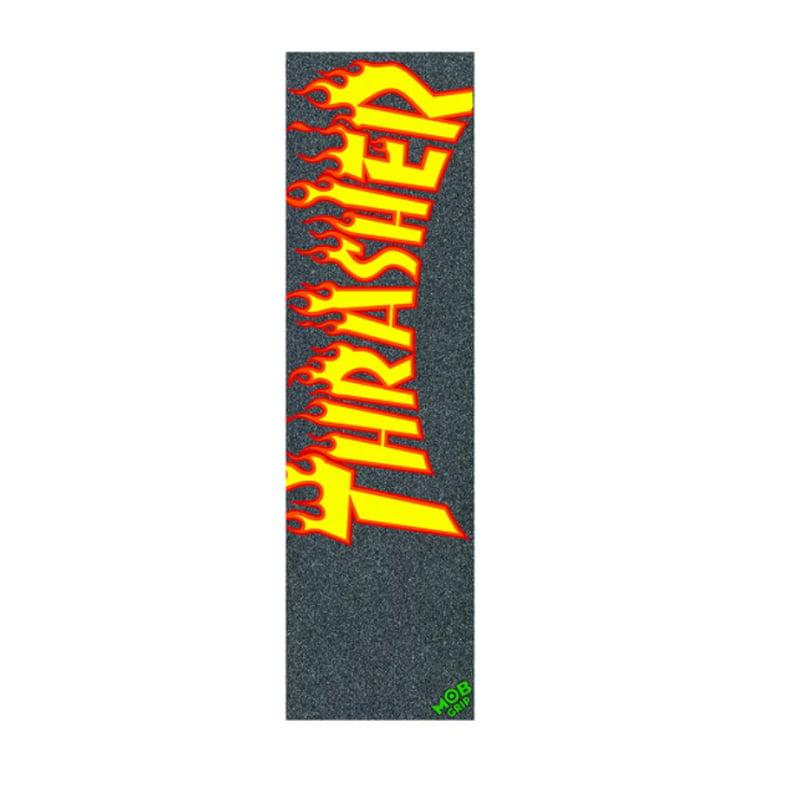 LIXA MOB GRIP X THRASHER MAGAZINE FLAME LOGO - PRETO 9.0