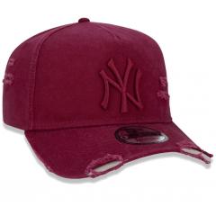BONÉ 9FORTY A-FRAME DESTROYED MLB NEW YORK YANKEES VINHO