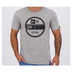 Camiseta New Era Essentials Cinza