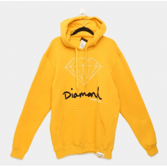 MOLETOM DIAMOND SIGN HOODIE GOLD