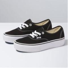 Tênis Vans Authentic Plataforma Black/White