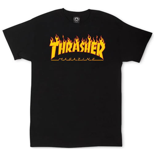 Camiseta Trasher Magazine Classic Flame Preto